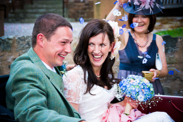 Capturing the spontaneous happiness of a wedding day