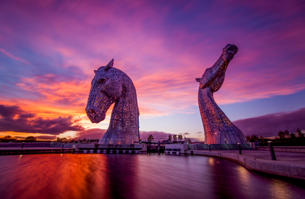 The fantastic Kelpies of Falkirk, central Scotland